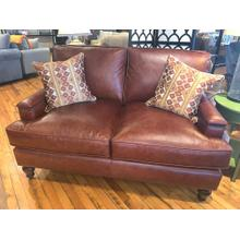 CLEARANCE Red Leather Sofa