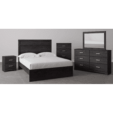 B2589 7PC SET: King Panel Bed, Dresser, Mirror, Chest, & Nightstand (Belachime)