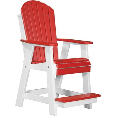 Adirondack Balcony Chair Red and White