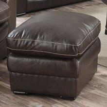 Mitchell Leather Ottoman