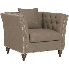 Westerly Upholstered Chair with Nailhead Trim, Pebble
