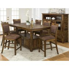Cannon Valley Counter Height Dining Room Set: Table & 6 Stools