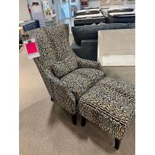 View Product - Katswell Onyx Accent Chair & Ottoman