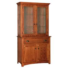 Transitional 2 Door China Hutch