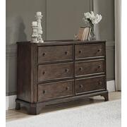 You love the look of traditional furnitureas long as its not overly formal. Behold the best of both worlds in this dresser. The combination of classic and up-to-date design proves that opposites really do attract. Large profile pilasters and bracket feet add a distinctive touch to the dresser's clipped corners, beveled edges and relaxed finish. With all these fine details, you can dress up a room, yet keep it feeling casual for today's lifestyle. Product Image