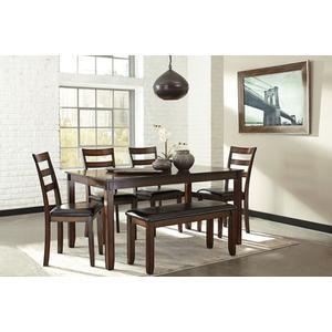 6-Piece Coviar Dining Room Table Set (6/CN)