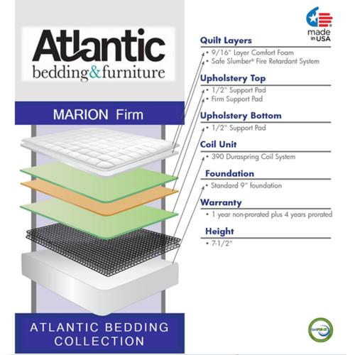 Atlantic Bedding and Furniture - Atlantic Bedding Collection - Marion - Firm