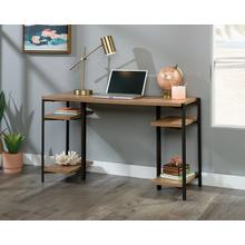 Industrial Computer Desk With Open Shelves