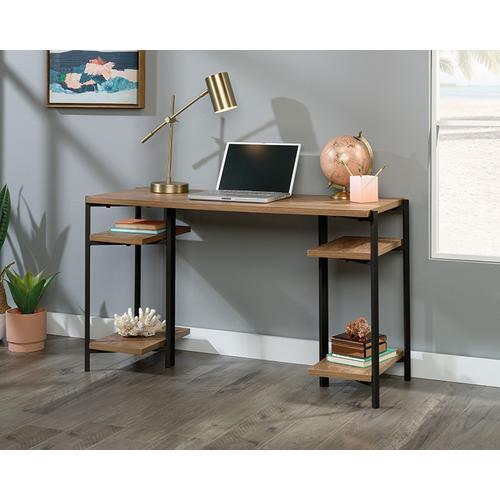 Sauder - Industrial Computer Desk With Open Shelves