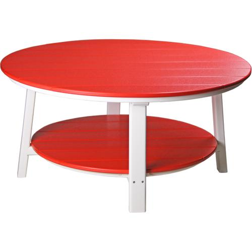 Deluxe Conversation Table Red and White