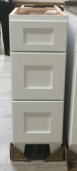 """Osage, 12"""" 3 Drawer Vanity Add-On, Birch White Product Image"""