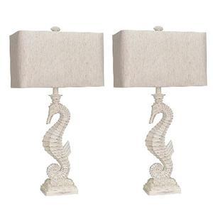 Lamps Per Se - Whitewash Seahorse Lamp (2/CN)
