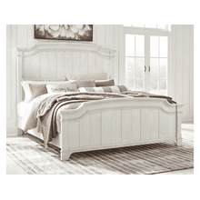 Nashbryn - Whitewash - California King Panel Bed