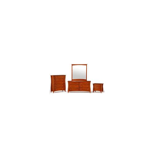 Night and Day Furniture - Clove 5 Drawer Chest Cherry Finish