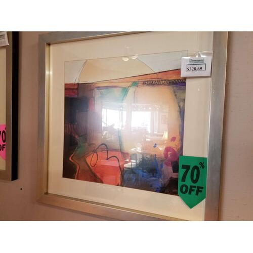 Factory Closeouts - Picture Source Abstract Framed Picture