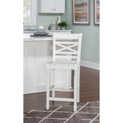 Sullivan Counter Stool - White