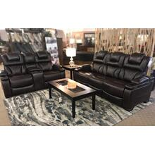 Double Reclining Sofa with Power & Power Headrest | Built in Cup Holders!