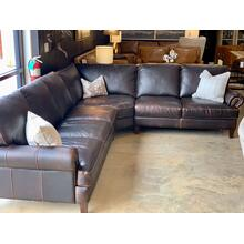 See Details - Leather Sectional Waco Brown