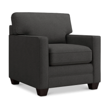 Alex Track Arm Chair - Charcoal