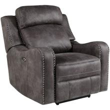 Bankston Traditional Recliner with Nailhead Trim, Grey