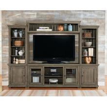 "PROGRESSIVE P635-E68-20-22-90  68"" Entertainment Center  - Weathered Gray Finish"