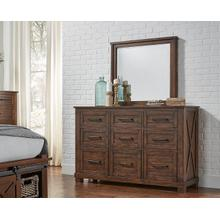 Sun Valley Dresser & Mirror Rustic Timber