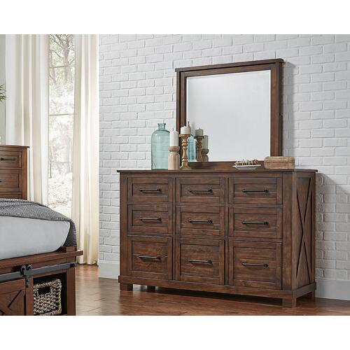 Sun Valley Dresser & Mirror Rustic Timber