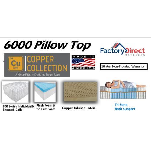 Factory Direct Mattress - 6000 - Pillow Top
