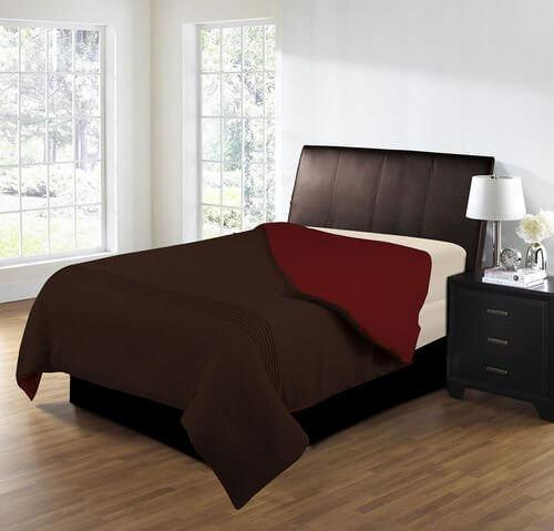 Transformations Dark Mocha/Red Comforter King & Queen