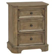 RGB 3Drawer Stonewood Nightstand Rustic Glazed Brown Finish