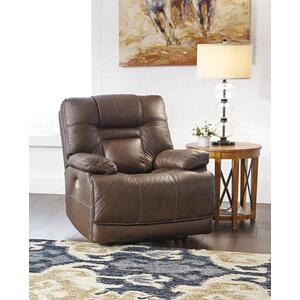 Ashley Power Recliner with Adjustable Headrest Wurstrow Umber