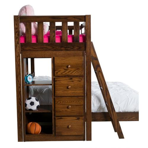Country Mission Bookcase Bunkbed