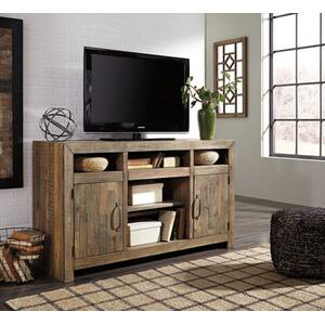 Sommerford Media Cabinet with LED fireplace insert option