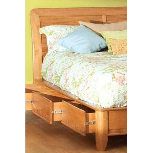 GSP Pacific Queen Storage Bed Glazed Spice Finish