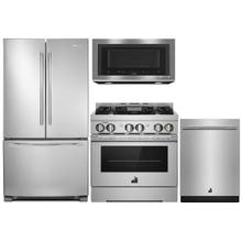 "JENNAIR FREE STANDING FRIDGE 30"" GAS RANGE PACKAGE"