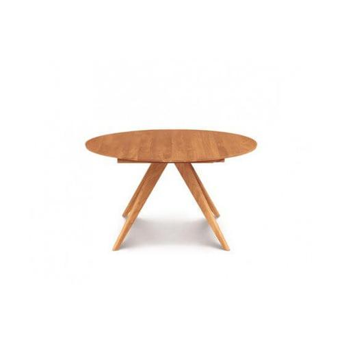 CATALINA ROUND EXTENSION TABLES WITH EASYSTOW EXTENSION AND LEAF STORAGE IN CHERRY