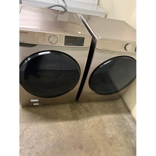 Packages - Refurbished Champagne Electric Samsung Washer Dryer Set. Please call store if you would like additional pictures. This set carries our 6 month warranty, MANUFACTURER WARRANTY AND REBATES ARE NOT VALID (Sold only as a set)