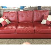 Poundex Bonded 2-Piece Leather Sofa Product Image