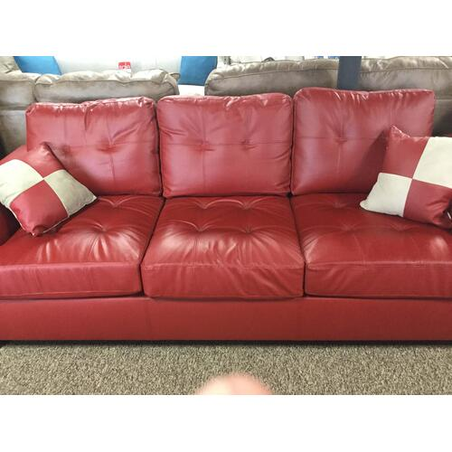 Poundex Bonded 2-Piece Leather Sofa