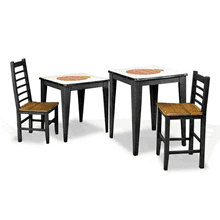Cerveza Black Counter Height and Game Tables