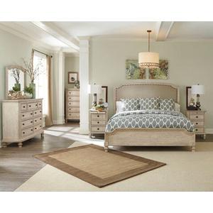 Demarlos-Parchment White 4 PC Bedroom Set