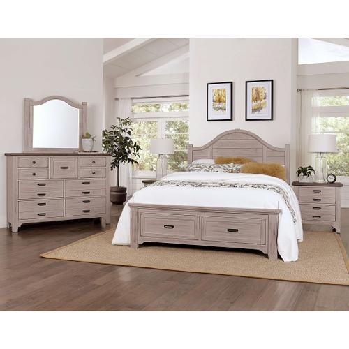 Vaughan-Bassett - King Bungalow Arch Storage Bed - Dover Grey Finish