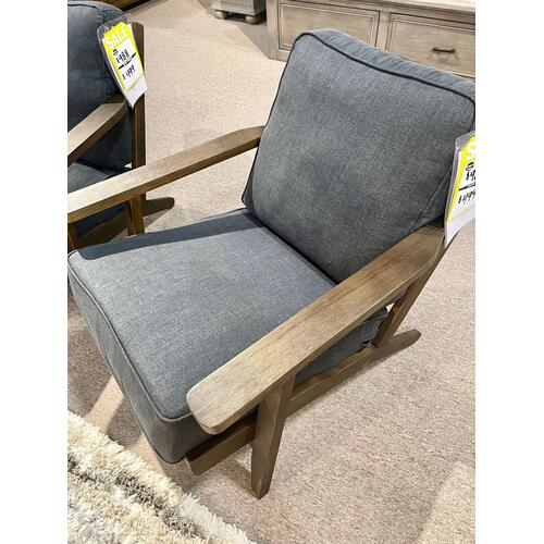 Elements - Metro Onyx Chair w/ Antique Wood Finish