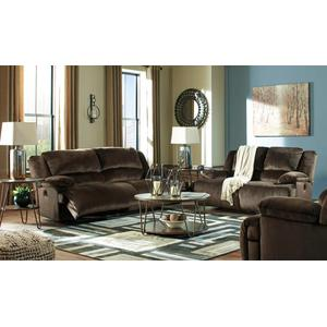 Clonmel- Brown Reclining Sofa and Loveseat