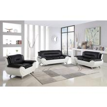 METRO BLACK & WHITE 3PCS LIVING ROOM SET