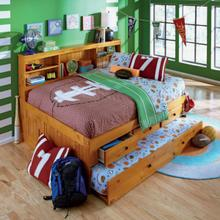 See Details - Honey Full Bookcase Daybed