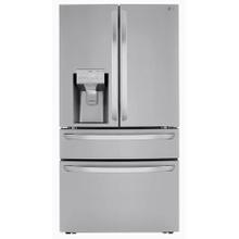 See Details - LG 29.5-cu ft 4-Door French Door Refrigerator with Dual Ice Maker (Printproof Stainless Steel) ENERGY STAR