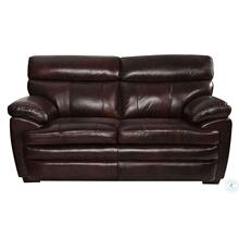 Scottsdale Brown Leather Loveseat