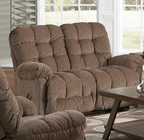 Best Home Furnishings - EVERLASTISNG SPACE SAVER RECLINING LOVESEAT in Cocoa    (L515RA4-20576,27674)
