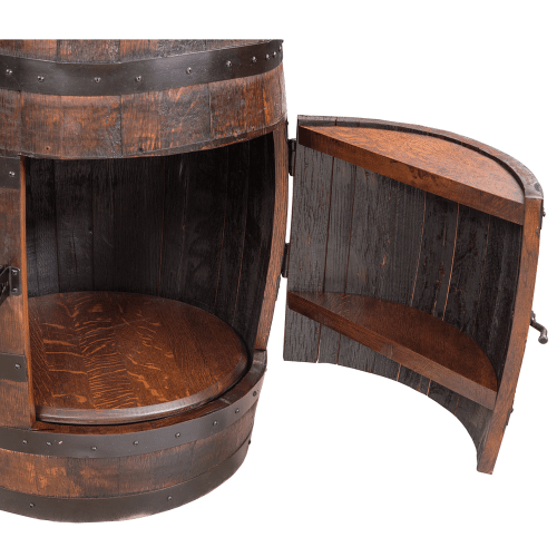 Amish Furniture - Amish Barrel Hutch with Shelves
